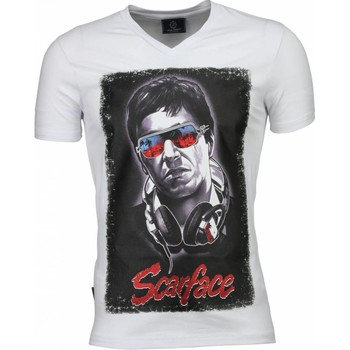Textiel Heren T-shirts korte mouwen Local Fanatic Scarface Headphone Print - T-shirt 1