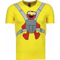 Textiel Heren T-shirts korte mouwen Local Fanatic Baby Bear Geel