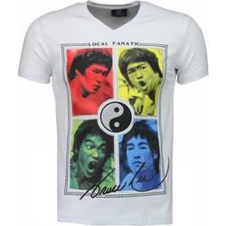 Textiel Heren T-shirts korte mouwen Local Fanatic Bruce Lee Ying Yang Wit