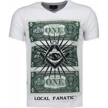 Textiel Heren T-shirts korte mouwen Local Fanatic One Dollar Eye - T-shirt 1