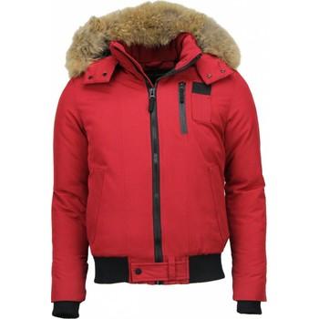 Textiel Heren Parka jassen Enos Bontjassen - Heren Winterjas Kort - Grote Bontkraag - Hoody Fur 8