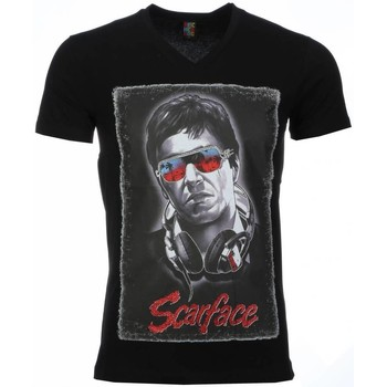 Textiel Heren T-shirts korte mouwen Mascherano T-shirt - Scarface Headphone Print 38
