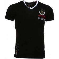 Textiel Heren T-shirts korte mouwen David Copper Korte Mouwen Riviera Club Zwart