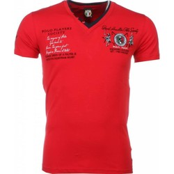 Textiel Heren T-shirts korte mouwen David Mello Italiaanse T-shirt - Korte Mouwen Heren - Borduur Polo Players 8