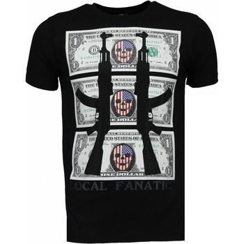 Textiel Heren T-shirts korte mouwen Local Fanatic AK-47 Dollar - Rhinestone T-shirt 38