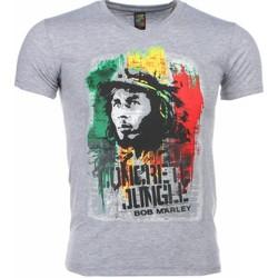 Textiel Heren T-shirts korte mouwen Mascherano T-shirt - Bob Marley Concrete Jungle Print 35
