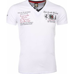 Textiel Heren T-shirts korte mouwen David Mello Italiaanse T-shirt - Korte Mouwen Heren - Borduur Polo Players 1