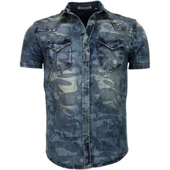 Enos Denim Heren Overhemd - Korte..