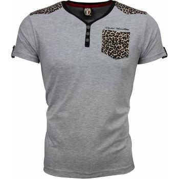 Textiel Heren T-shirts korte mouwen David Mello T-shirt - Tijger Print Motief 35