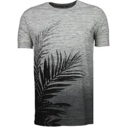 Textiel Heren T-shirts korte mouwen Black Number Tree Pattern Summer - T-Shirt 38