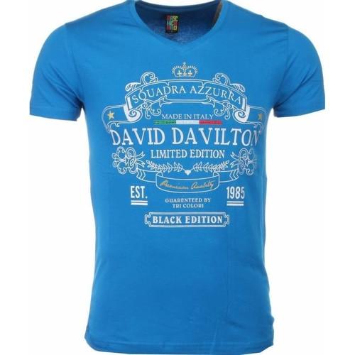 Textiel Heren T-shirts korte mouwen Local Fanatic Black Edition Print Blauw