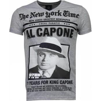 Textiel Heren T-shirts korte mouwen Local Fanatic Al Capone - Rhinestone T-shirt 35