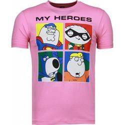 Textiel Heren T-shirts korte mouwen Mascherano Super Family - T-shirt 13