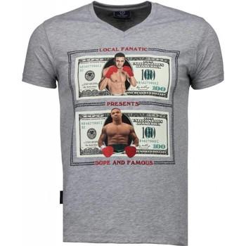 Textiel Heren T-shirts korte mouwen Local Fanatic Golden Boy vs Iron Mike - T-shirt 35