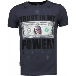 Textiel Heren T-shirts korte mouwen Local Fanatic Trust In My Power - Rhinestone T-shirt 35