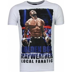Textiel Heren T-shirts korte mouwen Local Fanatic Golden Boy Mayweather - Rhinestone T-shirt 1