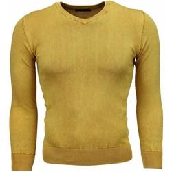 Textiel Heren Truien Tony Backer VHals Geel