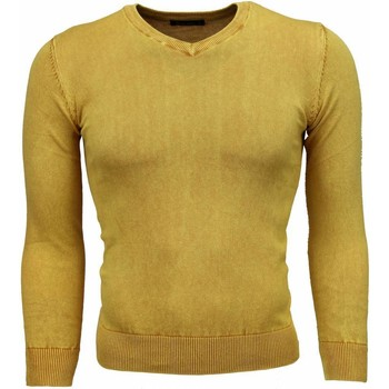Textiel Heren Truien Bruno Leoni Casual Trui - Exclusive Blanco V-Hals 4