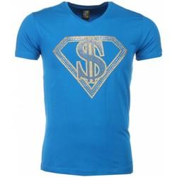 Textiel Heren T-shirts korte mouwen Mascherano T-shirt - Superman Dollar Print 19