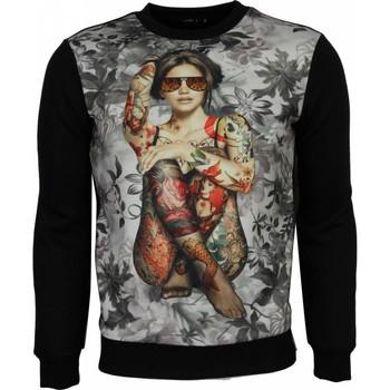 Textiel Heren Sweaters / Sweatshirts Local Fanatic Sweater - Bloemen Motief Getatoeëerd Dame Print Heren 38