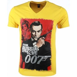 Textiel Heren T-shirts korte mouwen Mascherano T-shirt - James Bond From Russia 007 Print 4