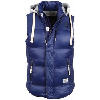 Textiel Heren Vesten / Cardigans Yole Bodywarmer Blauw met capuchon 19