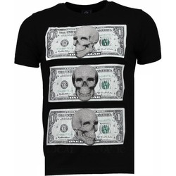 Textiel Heren T-shirts korte mouwen Local Fanatic Beter Have My Money - Rhinestone T-shirt 38