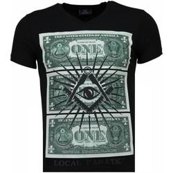 Textiel Heren T-shirts korte mouwen Local Fanatic One Dollar Eye - T-shirt 38