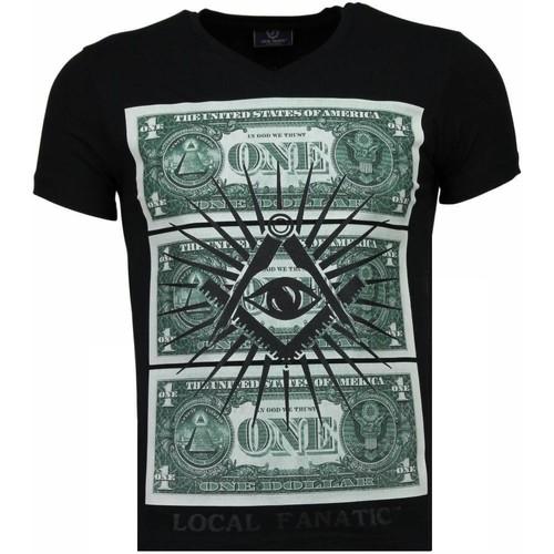 Textiel Heren T-shirts korte mouwen Local Fanatic One Dollar Eye Zwart
