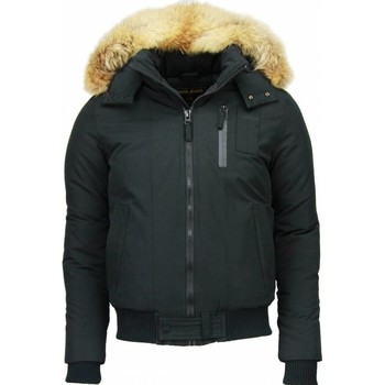 Textiel Heren Parka jassen Enos Bontjassen - Heren Winterjas Kort - Grote Bontkraag - Hoody Fur 38