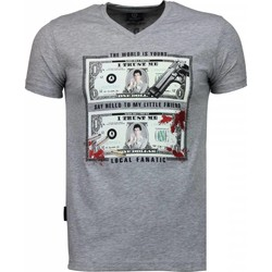 Textiel Heren T-shirts korte mouwen Local Fanatic Scarface Dollar - T-shirt 35