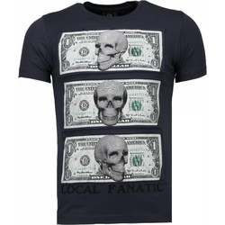 Textiel Heren T-shirts korte mouwen Local Fanatic Beter Have My Money - Rhinestone T-shirt 35