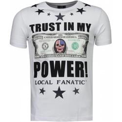 Textiel Heren T-shirts korte mouwen Local Fanatic Trust In My Power - Rhinestone T-shirt 1
