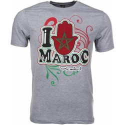Textiel Heren T-shirts korte mouwen Mascherano T-shirt I Love Maroc 35