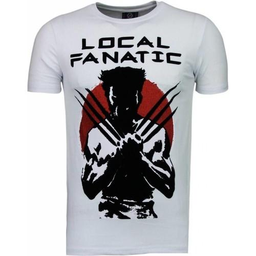 Textiel Heren T-shirts korte mouwen Local Fanatic Wolverine Flockprint Wit