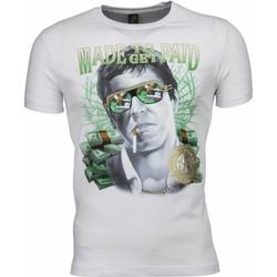 Textiel Heren T-shirts korte mouwen Mascherano T-shirt - Scarface Made To Get Paid Print 1