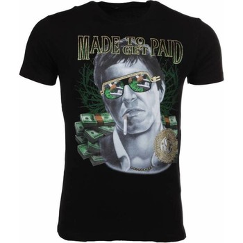 Textiel Heren T-shirts korte mouwen Mascherano T-shirt Made To Get Paid Scarface 38