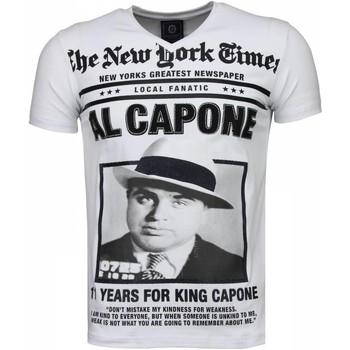 Textiel Heren T-shirts korte mouwen Local Fanatic Al Capone - Rhinestone T-shirt 1