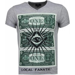 Textiel Heren T-shirts korte mouwen Local Fanatic One Dollar Eye - T-shirt 35