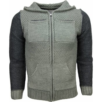 Textiel Heren Vesten / Cardigans Enos Casual Vest - Breiwol Capuchon Twee Kleuren Blanco 25