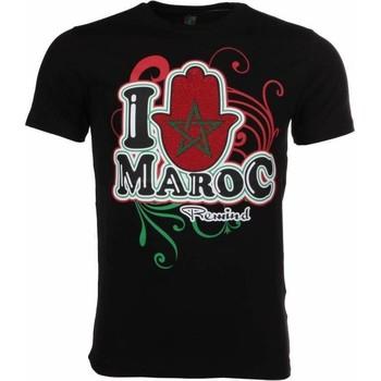 Textiel Heren T-shirts korte mouwen Mascherano T-shirt I Love Maroc 38