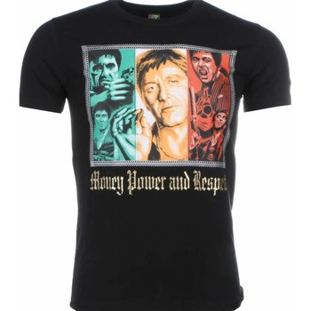 Textiel Heren T-shirts korte mouwen Local Fanatic Scarface Money Power Respect Print Zwart