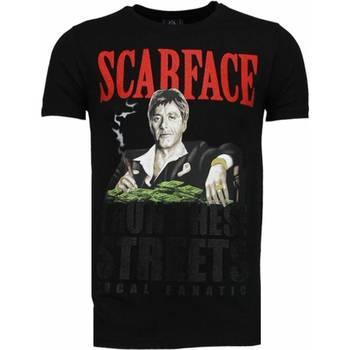 Textiel Heren T-shirts korte mouwen Local Fanatic Scarface Boss - Rhinestone T-shirt 38