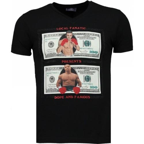 Textiel Heren T-shirts korte mouwen Local Fanatic Golden Boy Vs Iron Mike Zwart