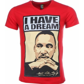 Textiel Heren T-shirts korte mouwen Mascherano T-shirt - Martin Luther King I Have A Dream Print 8