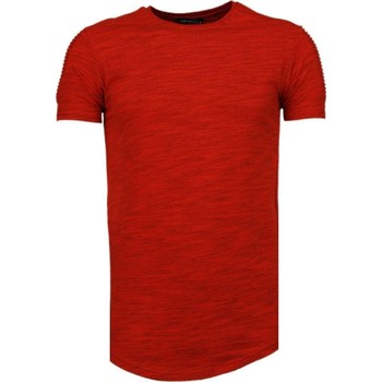 Textiel Heren T-shirts korte mouwen Tony Backer Sleeve Ribbel - T-Shirt - Rood