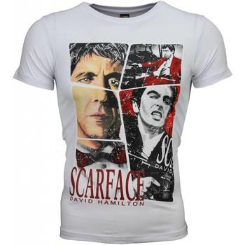Textiel Heren T-shirts korte mouwen Mascherano T-shirt - Scarface Frame Print 1
