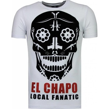 Textiel Heren T-shirts korte mouwen Local Fanatic El Chapo - Flockprint T-shirt 1