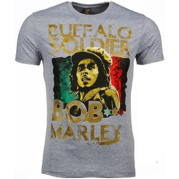 Textiel Heren T-shirts korte mouwen Mascherano T-shirt - Bob Marley Buffalo Soldier Print 35