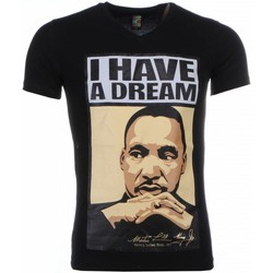 Textiel Heren T-shirts korte mouwen Mascherano T-shirt - Martin Luther King I Have A Dream Print 38